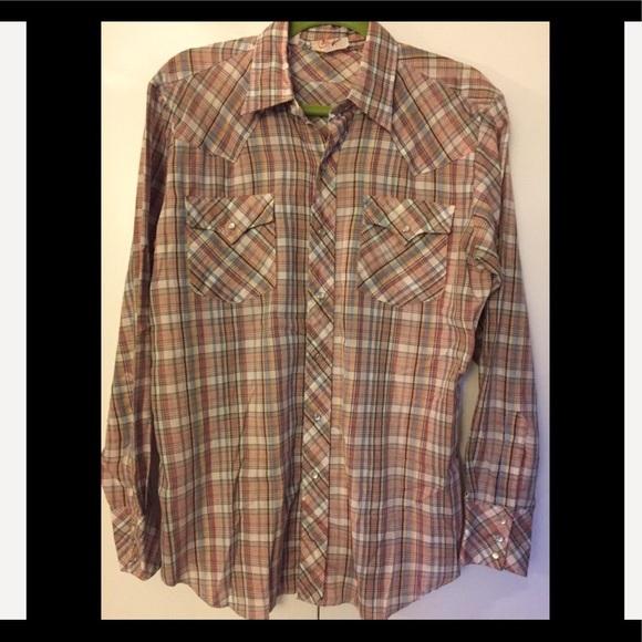 68b7086014 Vintage Shirts | Western Snap Button Down Mens Shirt | Poshmark